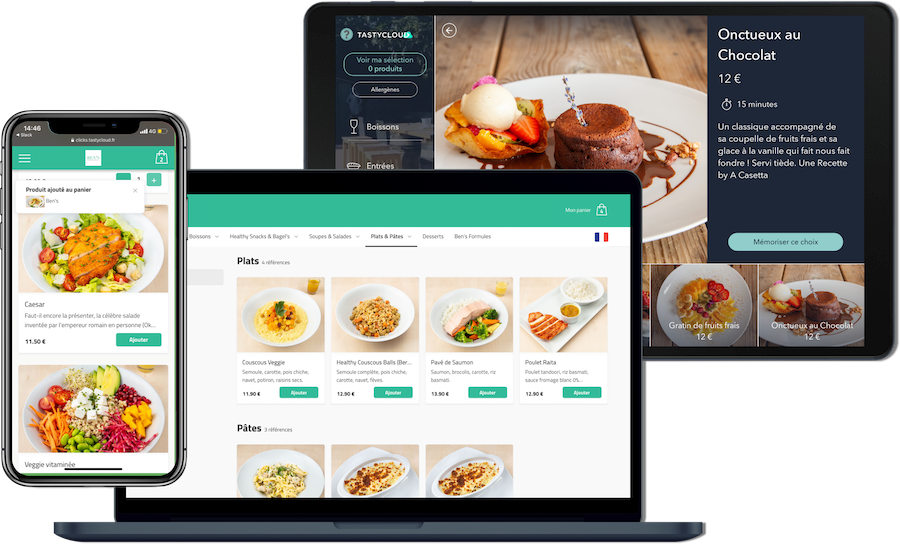 menus digitaux pour restaurants