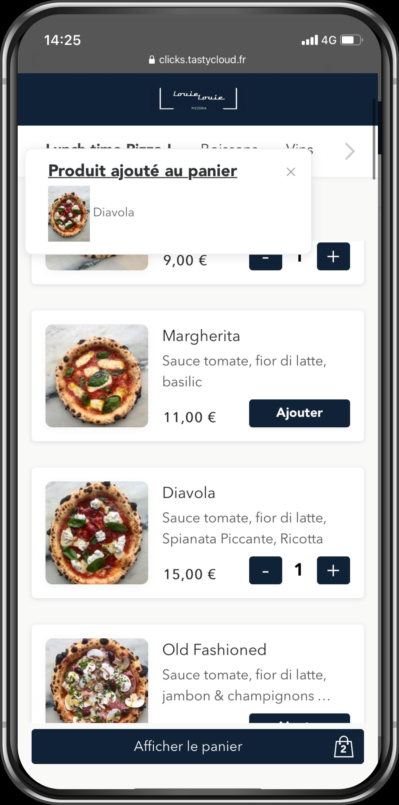 Click & Collect gratuit pour restaurants