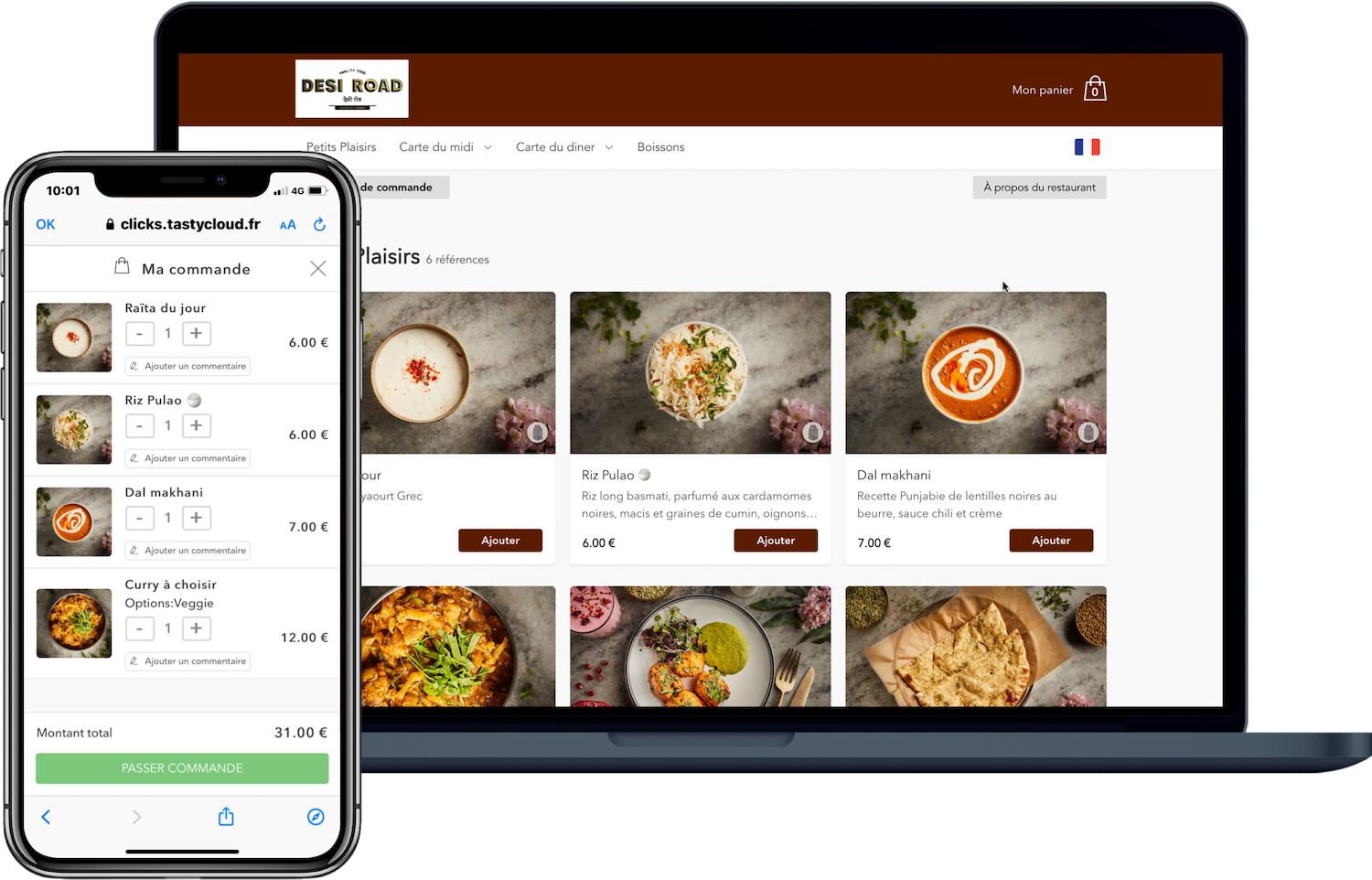 site Click & Collect pour restaurants