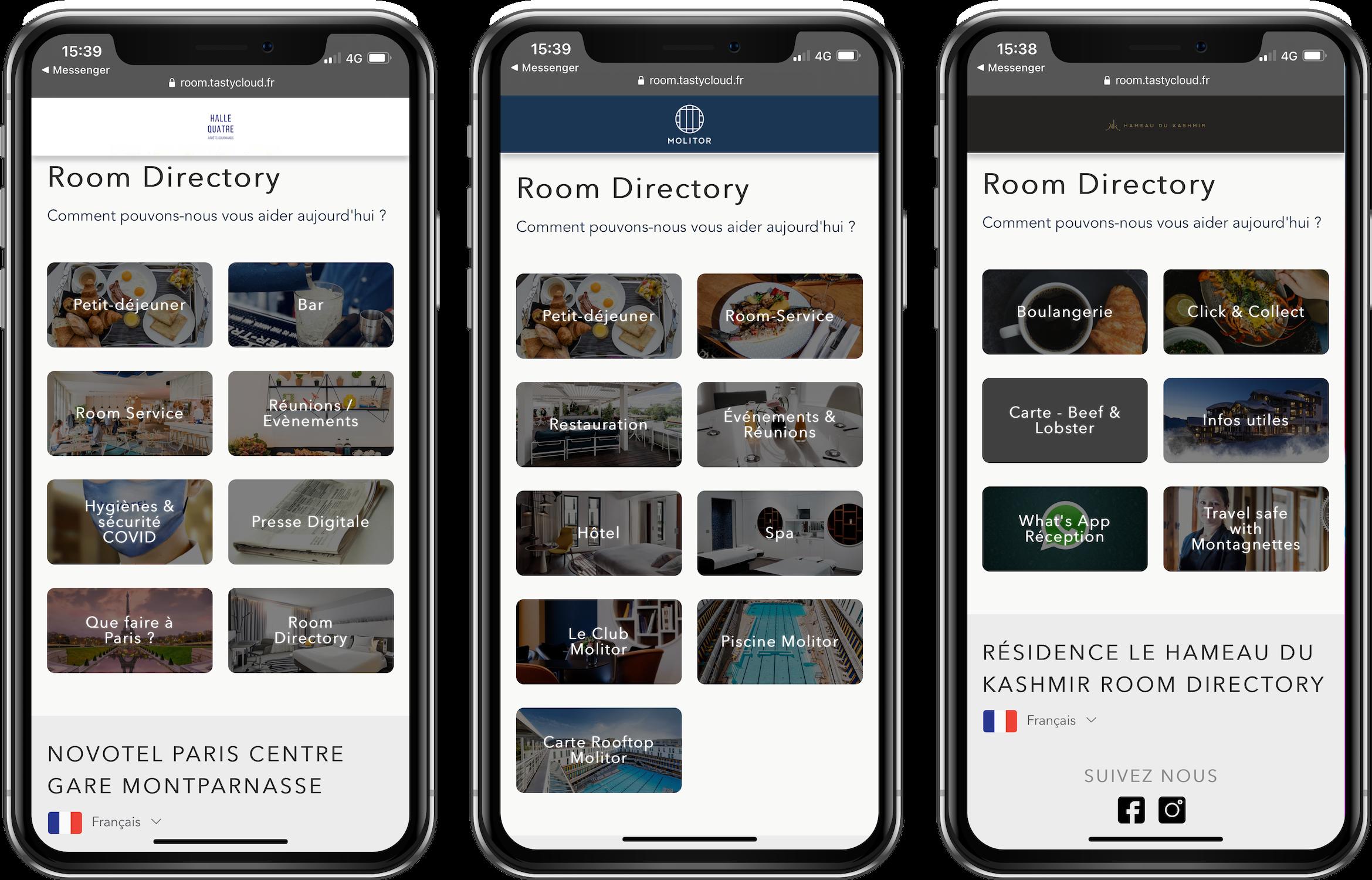 room service digital hotel