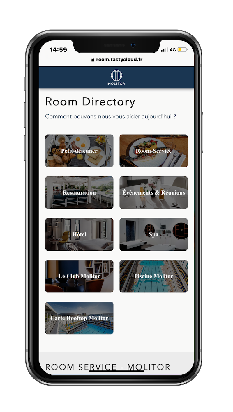 Room Directory digital Hôtel